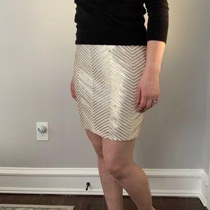 Banana Republic sequence mini skirt